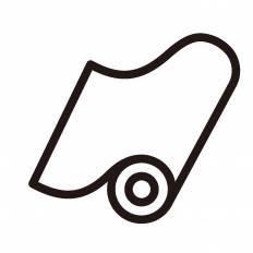 巻物シルエット イラストの無料ダウンロードサイトシルエットac