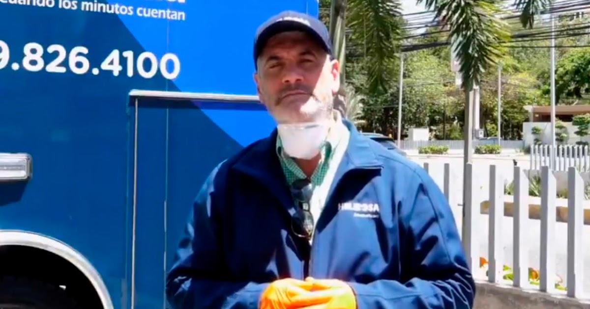 Gonzalo Fortificación con sotabarba y vello, como fue captado en un video.