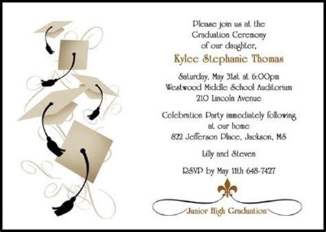 graduation announcements and invitations for jr high