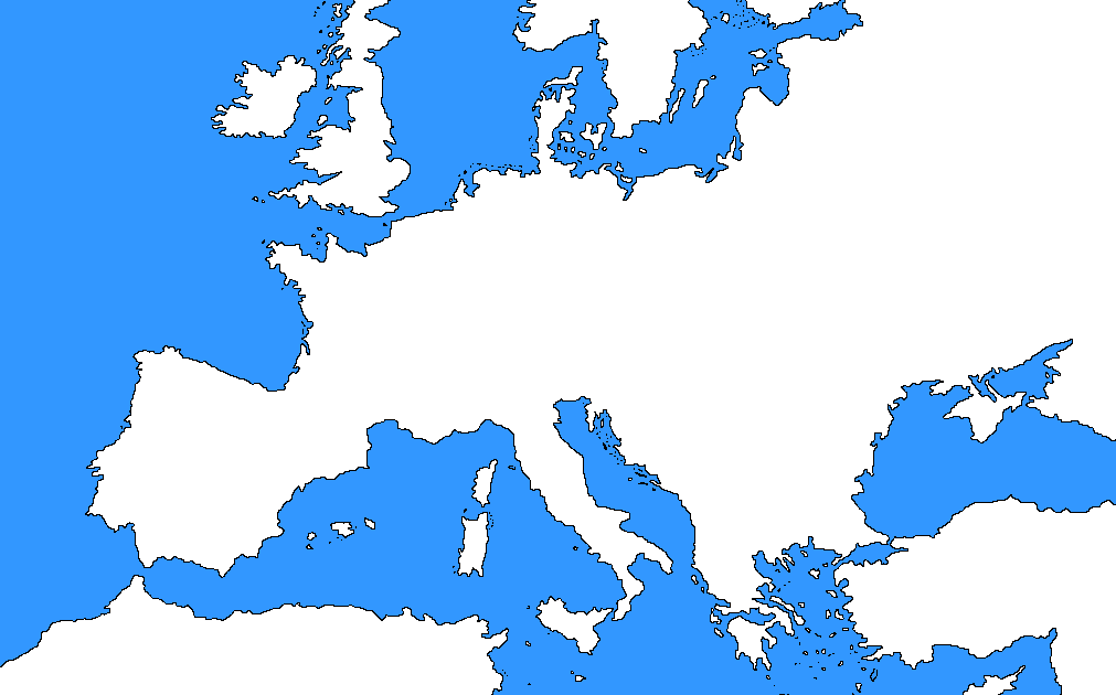 europe map no borders Blank Map Of Europe No Borders   Maping Resources