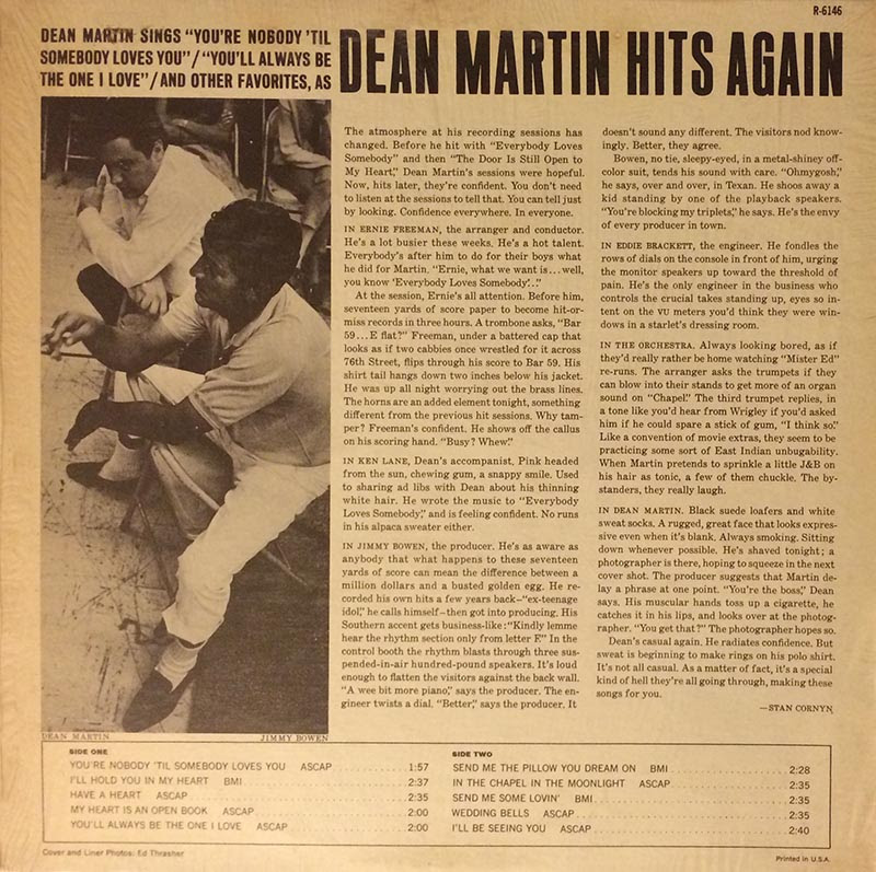 Image result for dean martin hits again album