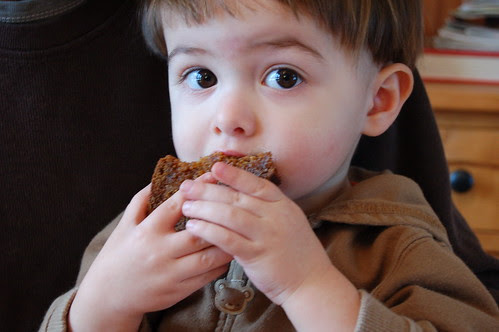 Will eating a slice of pumpkin bread by Eve Fox, Garden of Eating blog, copyright 2011