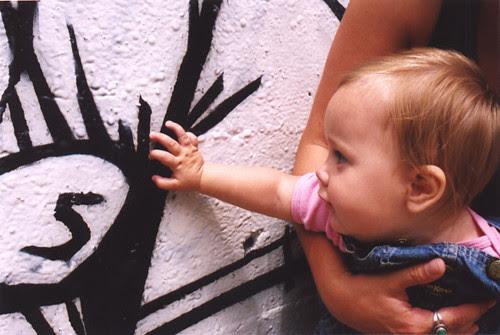 Ava and graffiti