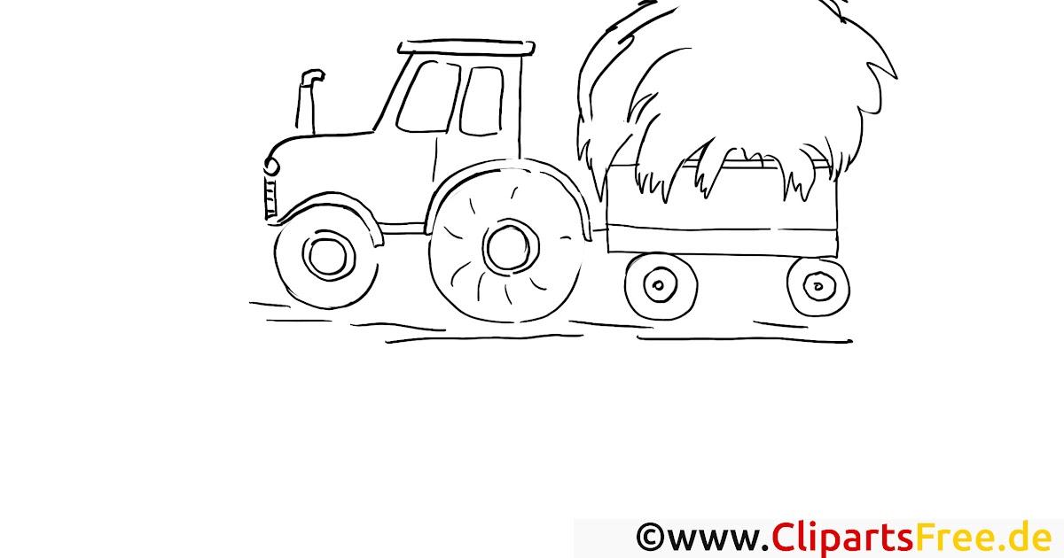 malvorlagen trecker gratis  traktor  trecker