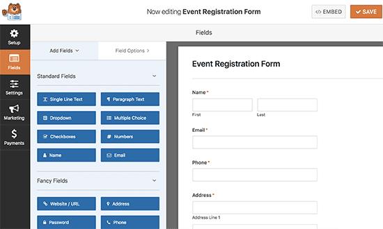 Billing / Order form template
