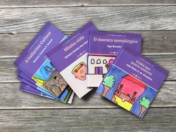 Alguns dos livros que foram lançados