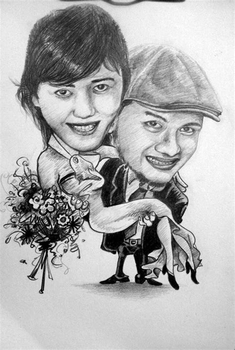 caricature romance karikatur  jasa karikatur lucu