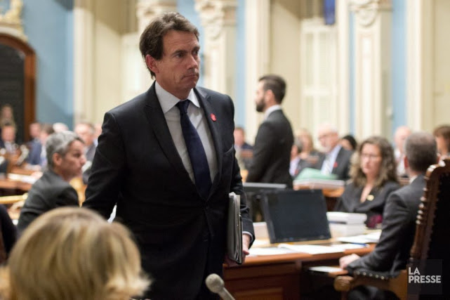 PIerre Karl Péladeau brillera par son absence jeudi au... (JACQUES BOISSINOT, LA PRESSE CANADIENNE)
