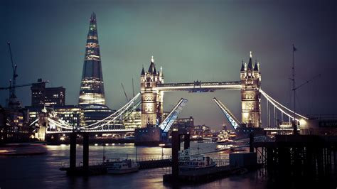 full hd wallpaper thames bridge night illuminated london