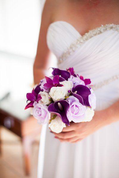 Purple Calla lily, lavender Rose, Ivory Rose & Magenta Orchid Wedding bouquet by How Divine ~ www.howdivine.com.au