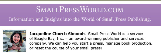 Small Press World blogs for self publishers
