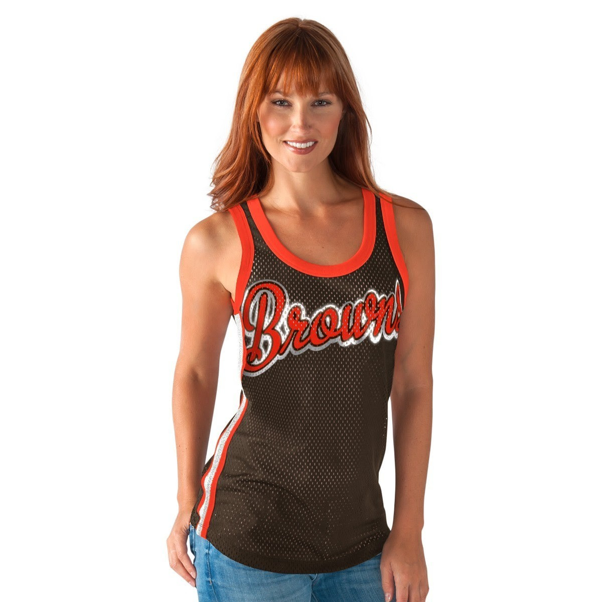 Cleveland Browns Womens GIII NFL quot;Game Onquot; Jersey Mesh Tank Top  eBay