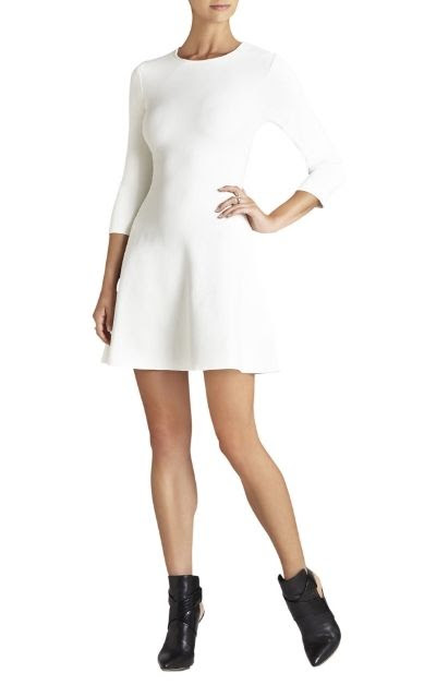 BCBGMAXAZRIA Danella Long-Sleeve Fit-and-Flare Dress