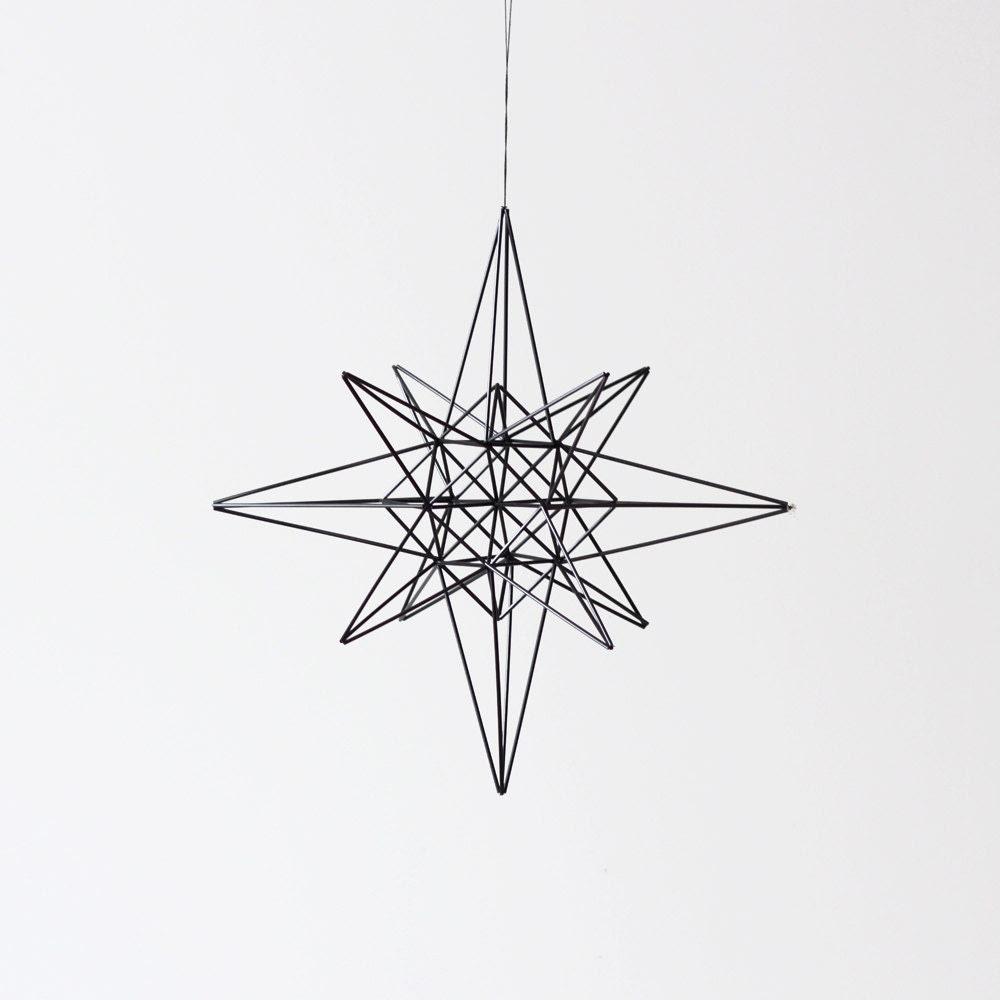 moravian star style himmeli / hanging mobile / modern geometric sculpture - AMradio