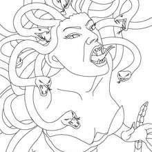 Dibujos Para Colorear Medusa Gorgona Con Cabellos De Serpiente