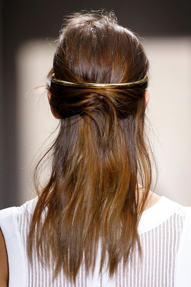 Le Fashion Blog Balenciaga SS 2013 Romantic Brunette Half Updo Gold Halo Hair Piece Wedding Bride Inspiration photo Le-Fashion-Blog-Balenciaga-SS-2013-Romantic-Brunette-Half-Updo-Gold-Halo-Hair-Piece-Wedding-Bride-Inspiration.jpg