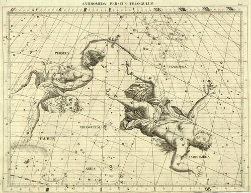 009-Andromeda-Perseo y el Triangulo-Atlas Coelestis 1729- John Flamsteed-University of Michigan Shapiro Science Library