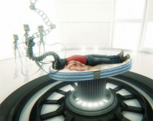 A recreation of an abduction case on Alien Mysteries. (Credit: Discovery Canada)
