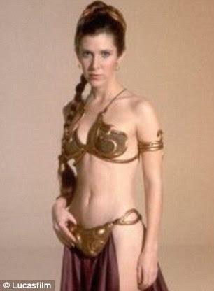 Bikini girl: The Star Wars actress as Princess Leia