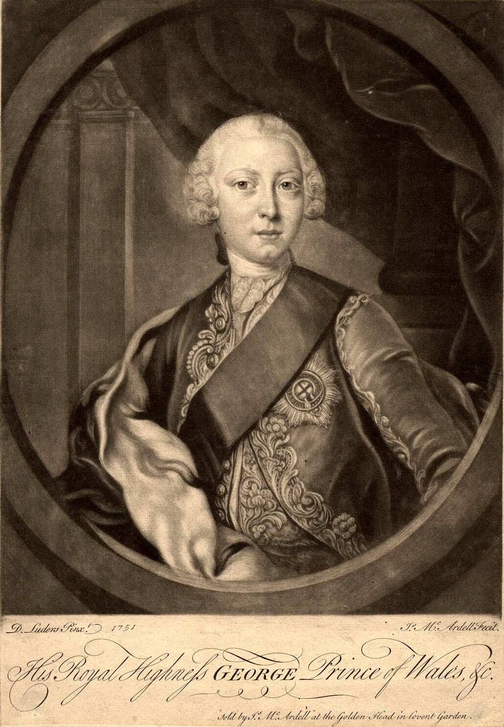 James Macardell/David Lüders: George III of the United Kingdom while Prince of Wales