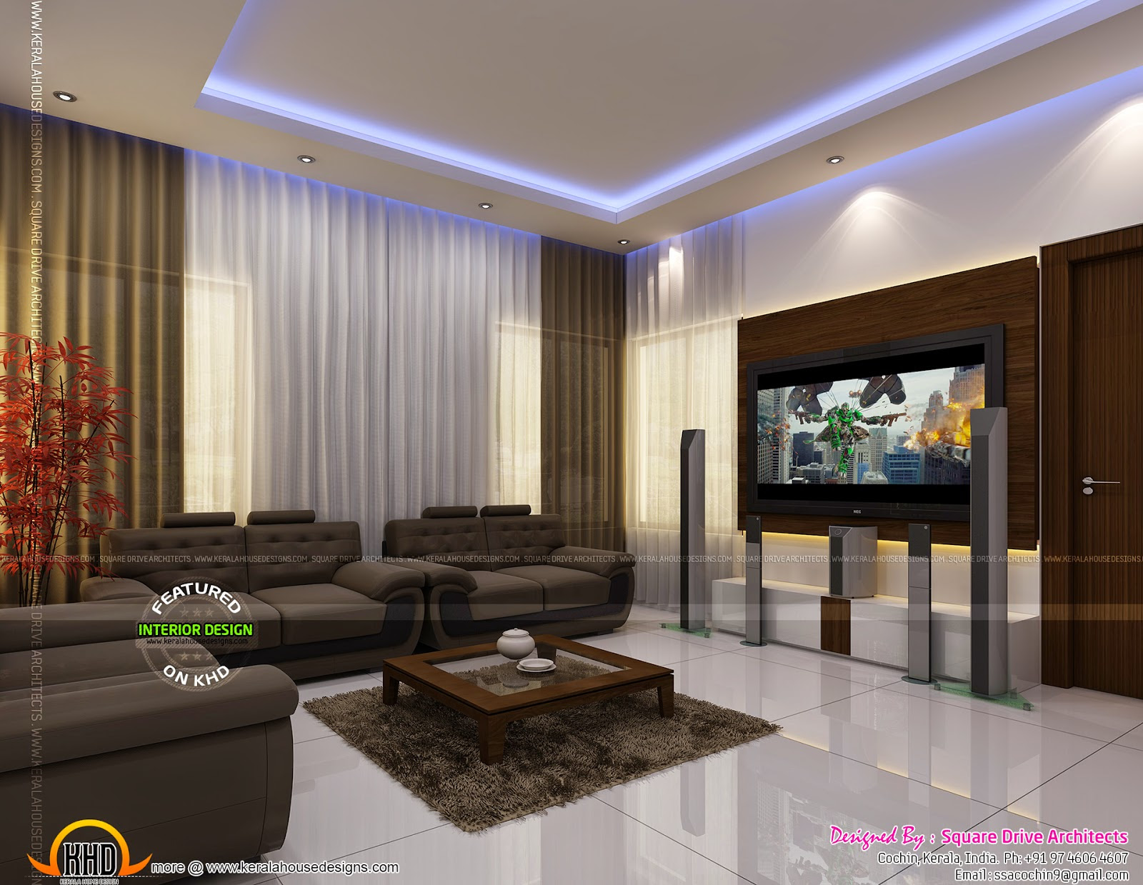 Kerala Home Design Interior Living Room