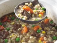 Classic Slow-Cooker Beef and Barley Soup recipe from Betty ...