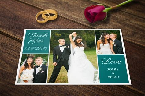 Wedding Thank You Postcards Template ~ Card Templates