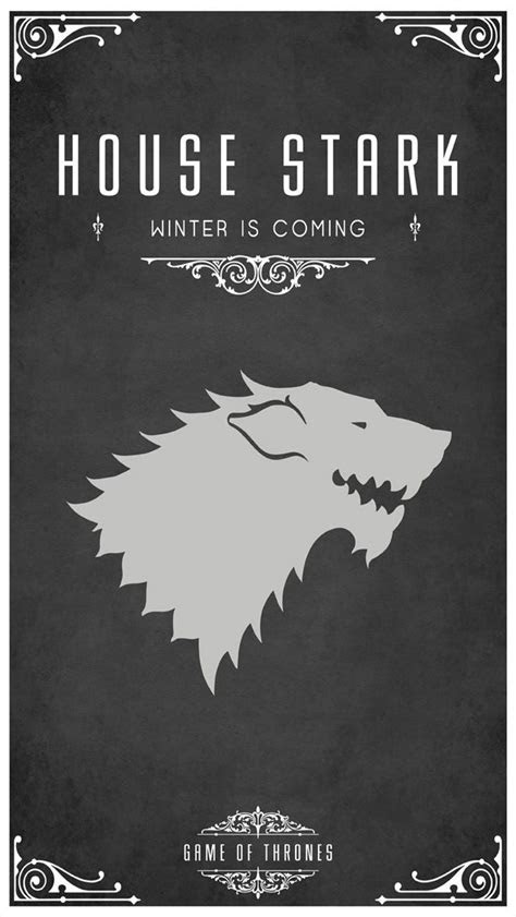 game  thrones house stark  iphone wallpapers tv