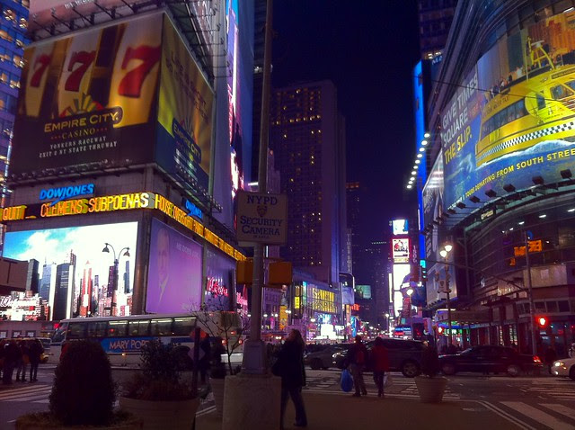 Day 42 Times Square, night