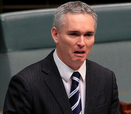Craig Thomson breaks down during his address to Parliament.