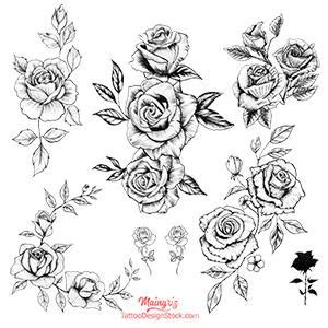 sexy roses work tattoo design tattoo design stock