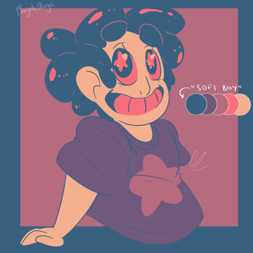 Anonymous said: Steven in Soft Boy please ❤ Answer: I've never drawn Steven before so I hope this isn't too bad (the color palette kinda makes him looks scary XD sorry about that!)
