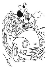 Perfecto Mickey Y Minnie Para Colorear Festooning