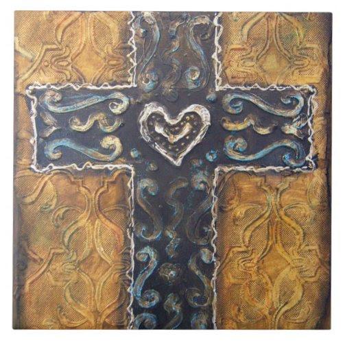Mexicalli Cross Tile zazzle_tile