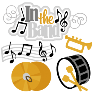 In the Band SVG cutting files music svg cut files trumpet svg cut files band svg cuts for cricut