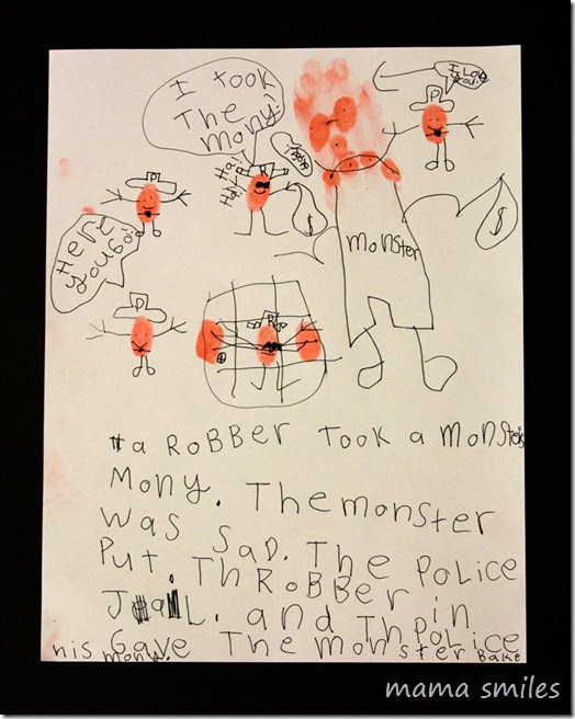 Monster Drawing + Writing from MamaSmiles (Monster RoundUP via RainbowsWithinReach)