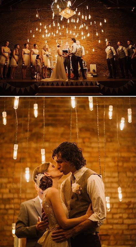 20 Wedding Ceremony Lighting Ideas : Chic Vintage Brides