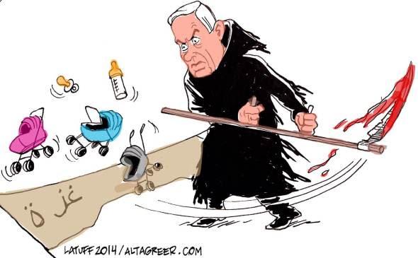 Netanyahu Grim Reaper of Gaza Altagreer