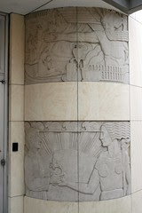 roy and lillie cullen building, baylor college of medicine frieze