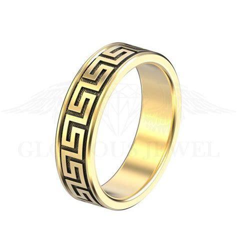 Ares ring Greek ring, Versace inspired ring, Greek Key