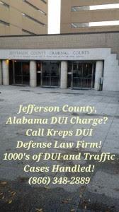 Jefferson County Birmingham Alabama DUI Attorney
