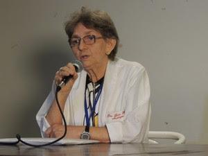 Maria Lúcia Brito Ferreira, chefe do serviço de neurologia do HR (Foto: Thays Estarque/G1)