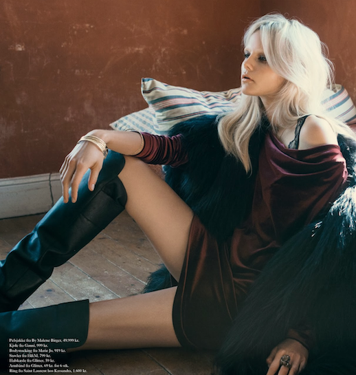 LE FASHION BLOG EDITORIAL EUROWOMAN MAGAZINE BLACK FUR COAT BURGUNDY SLINKY DRESS GOLD BRACEELTS H&M LEATHER KNEE HIGH BOOTS BLEACH BLONDE HAIR BLEACHED EYEBROWS NATURAL NUDE BEAUTY  I En Villa In A Villa November 2013 Photographer: Katrine Rohrberg Stylist: Gertrud Maria Bønnelykke Hair: Søren Bach Make-up: Trine Skjøth  Model: Josefine Nielsen 6 photo LEFASHIONBLOGEDITORIALEUROWOMANMAGAZINEKNEEHIGHBOOTS6.png