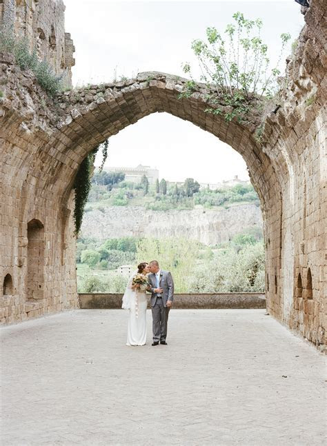 An Italian Elopement in a 6th Century Abbey in Orvieto. La