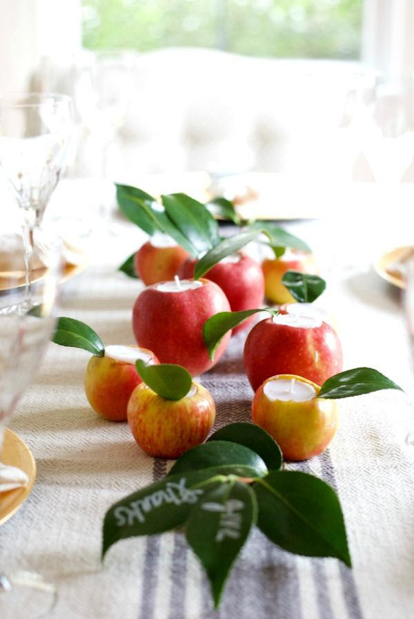 Apple Candle Holder Place Cards | Satsuma Designs