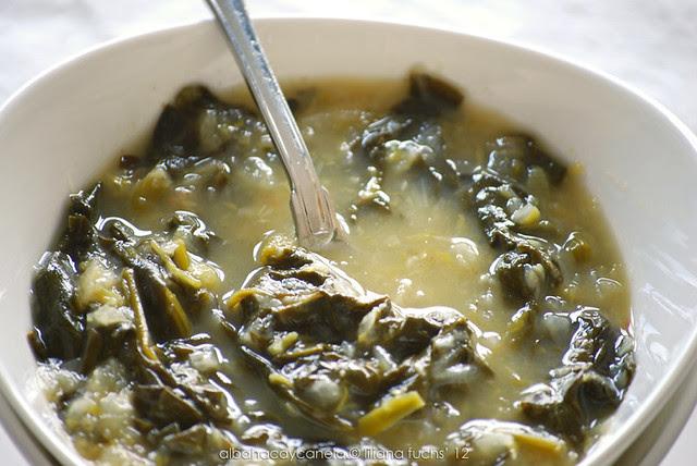 Sopa de espinacas con hinojo