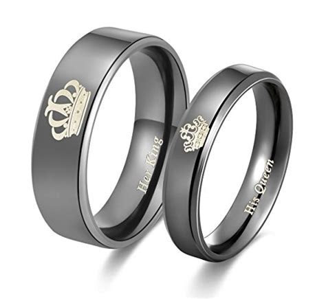 Amazing Her King His Queen Titanium Stainless Steel