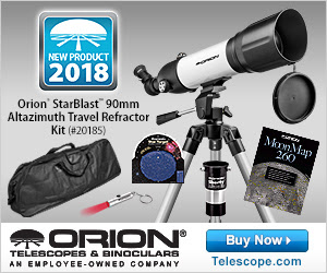 Orion StarBlast 90mm Altazimuth Travel Refractor Telescope Kit