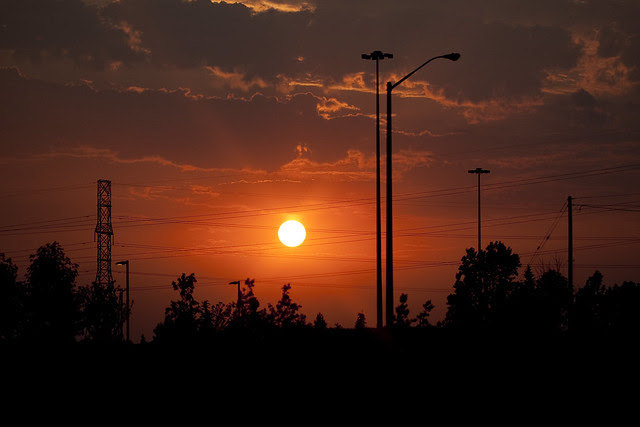 sunset going home4