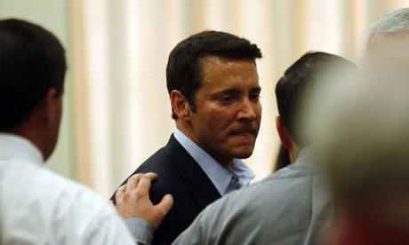 Self-help guru James Ray after his sentencing over sweat lodge deaths
